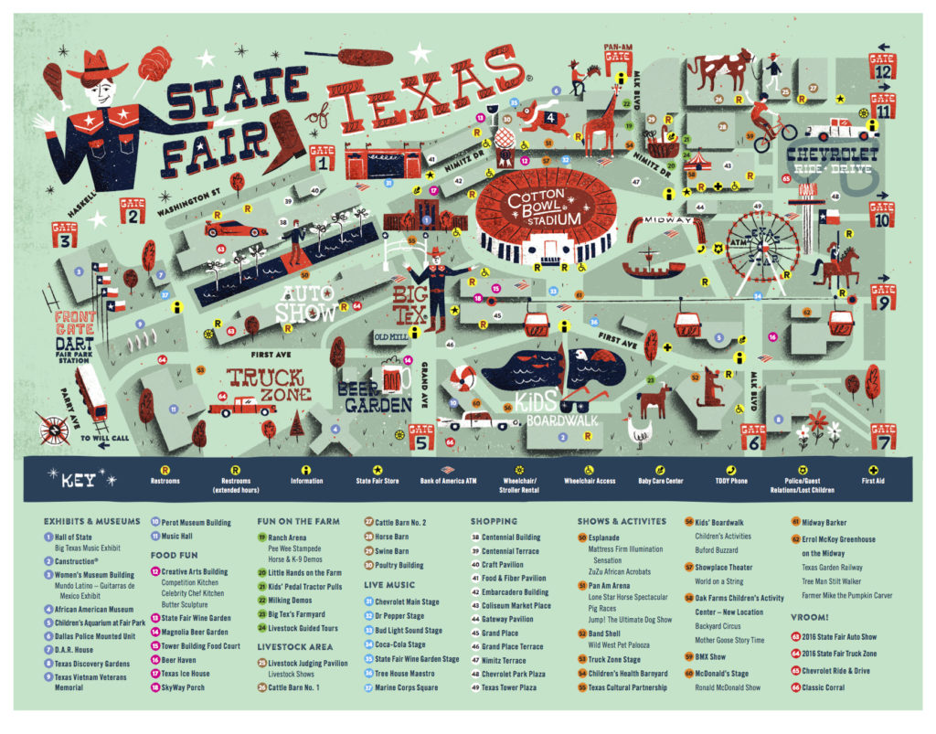 State Fair Texas Map Wildcat Movers